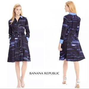 Banana Republic Silky Brush Stroke Dress